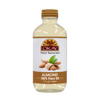 Almond 100% Pure Oil-Non Comedogenic-Replenish & Hydrates Skin-Helps Repair Damaged Hair -Deep Moisturized Glow -Nourishes & Strenthens Hair Cuticle-For All Hair Textures And All Skin Types- Silicone, Paraben Free - Made in USA 1oz