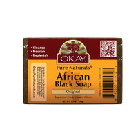 African Black Soap Original-Antiseptic Nourishing Beauty Wash -Natural Remedy For Cleansing Skin- For Treatment Of Skin Conditions Like Acne, Blemishes, & Psoriasis-  Sulfate, Silicone, Paraben Free For All Skin Types - Made in USA 5oz