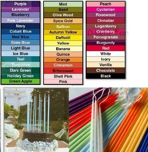 10 Inch Tiny Tapers Floral Candle Bulk Drip Less