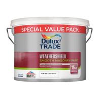 Dulux Trade Weathershield Smooth Masonry White 7.5 litre (5091685)