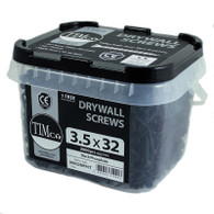 TIMco Phillips Bugle Head Fine/Coarse Thread Drywall Screws - BLACK (Tub)