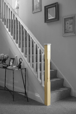Cheshire Mouldings Stop Chamfered Newel Stair Post ST1500P