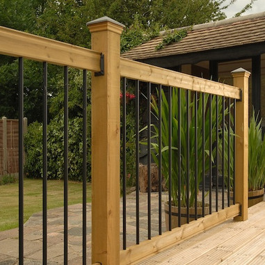 Contemporary Aluminium Decking Spindles Balusters