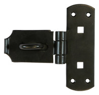 "Taurus Heavy Vertical Pattern Bolt On Hasp and Staple 150mm (6"") Epoxy Black - Pre-Packed"