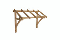 Flat Roof Porch Canopy Pine Timber 1300mm Inc Gallows Brackets