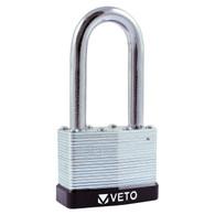 TIMco Veto Laminated Padlock - Long Shackle (40mm)