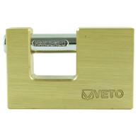 TIMco Veto Rectangular Brass Padlock (75mm)