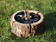 Eco Alder Wood Grill Instant Mini Disposable BBQ Barbecue / Campfire