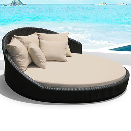 Outdoor round double bed set i order now i free shipping for Outdoor pool bed