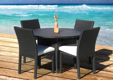 PC Dining Table Set I ORDER NOW I MangoHome - Outdoor resin wicker furniture