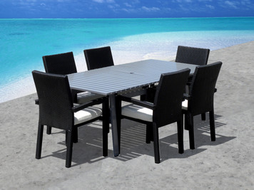 Outdoor Patio Wicker Furniture New Aluminum 7-PC Dining Set