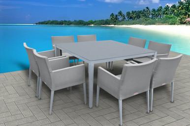9Pc Square Dining Table Set I SHOP NOW I MANGOHOME
