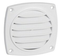 "Grill: 3"" round surface mount white"