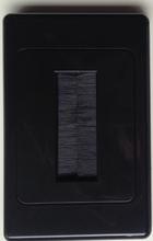 Single Gang Brush Plate - Black