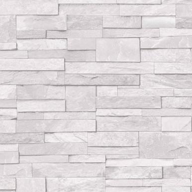Fiji White Stone Effect Ceramic Wall Tile, Pack of 10, (L ...  Whitestone Wall Tile