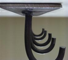 """Under Mantle"" Fireplace Tool Hanger"