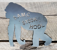 """Get your Ape here! Made of solid American steel, clear coated to protect it. Commemorate your fight against the hedges by displaying your ape on your wall. Remember the battle of 2021! A once in a lifetime event! This is 12""""W, made of 1/8"""" thick steel and clear coated. This price includes free shipping anywhere in the USA!"""