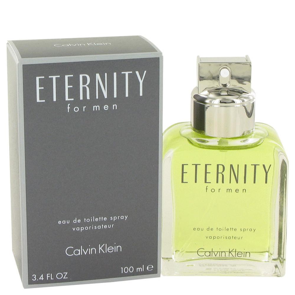 Eternity Cologne for Mens By Calvin Klein Eau de Toilette Edt Spray 3.4 oz