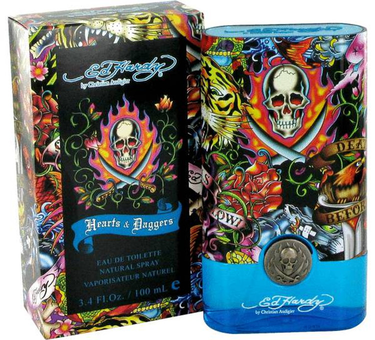 ED Hardy Hearts & Daggers Fragrance Mens by Christain Audigier Edt Spray 3.4 oz