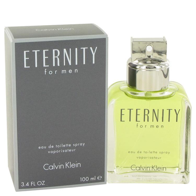 Eternity Cologne for Mens Calvin Klein Eau de Toilette Edt Spray 3.4 oz