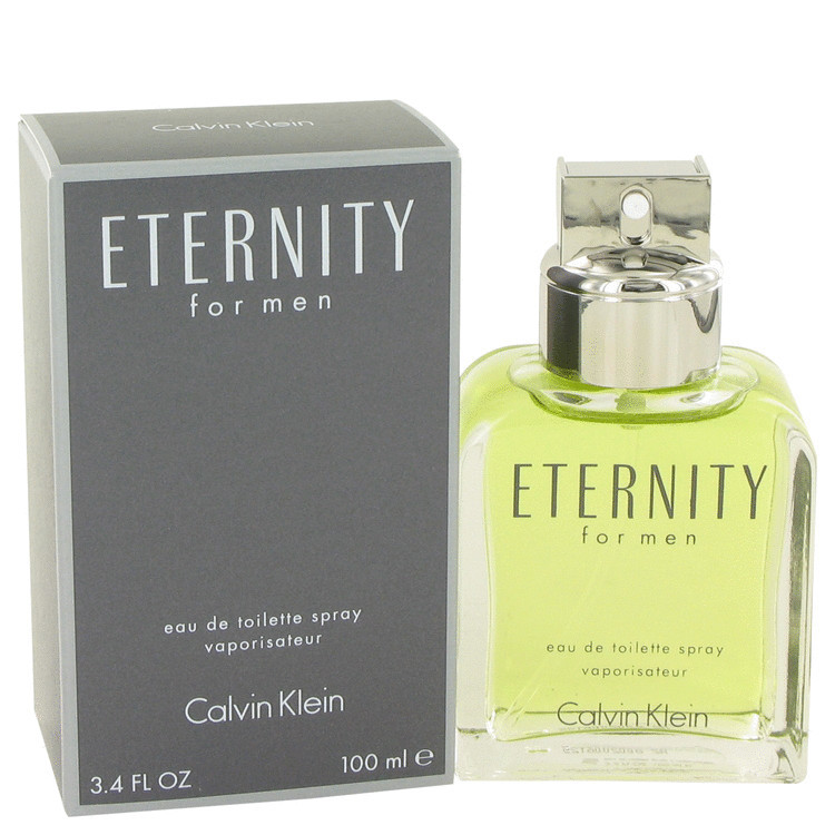 Eternity Cologne for Mens Calvin Klein Edt Spray 3.4 oz