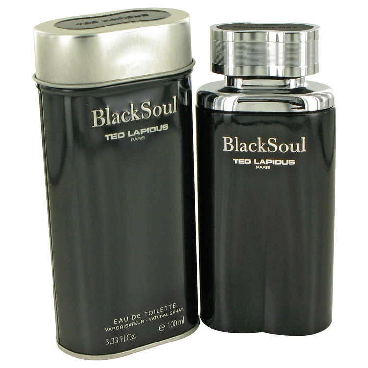 Black Soul Cologne For Men by Ted Lapidus Edt 3.4 oz