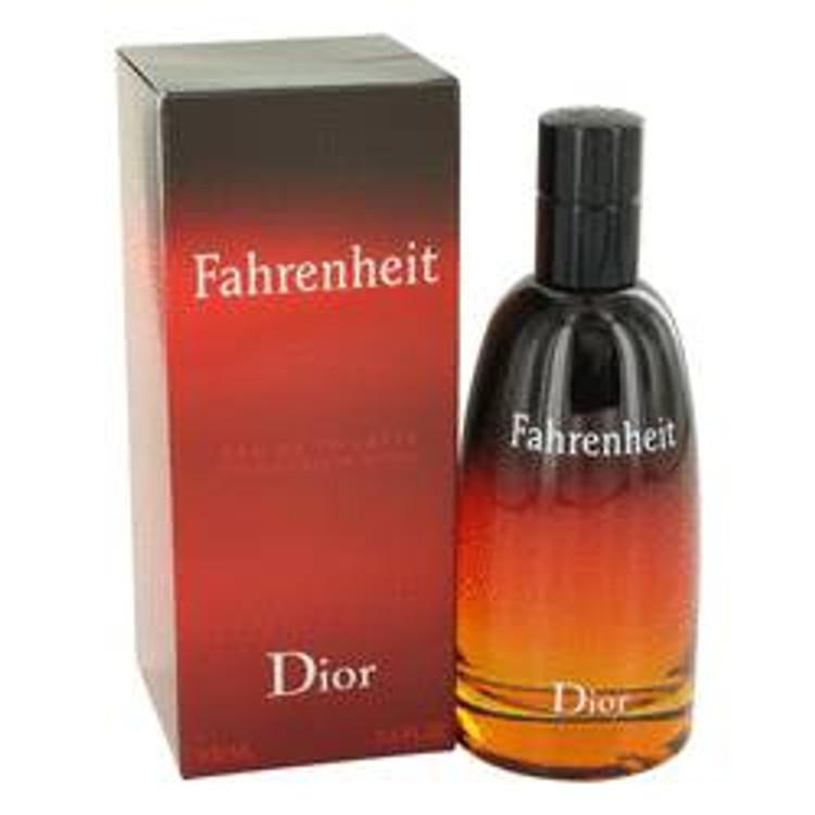 Fahrenheit Fragrance Mens by Christian Dior  Edt Spray  3.4 oz
