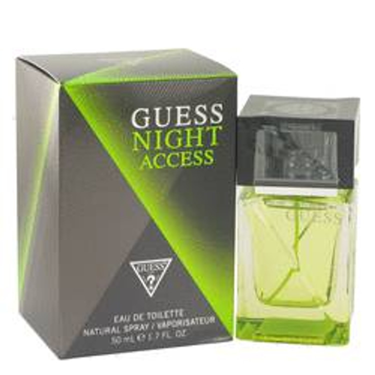 Guess Night Access  Cologne by Guess Men's Edt Spray 1.7oz