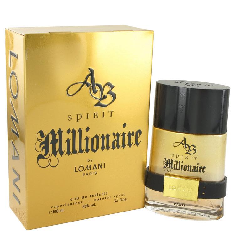 Lomani AB Spirit Millionaire for Men 3.3oz Edt Spray