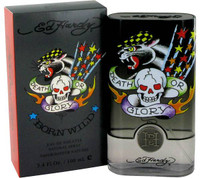 ED Hardy Born Wild Mens Cologne by Christain Audigier Edt Spray 3.4 oz