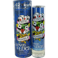 ED Hardy Love & Luck Mens Cologne by Christain Audigier Edt Spray 3.4 oz