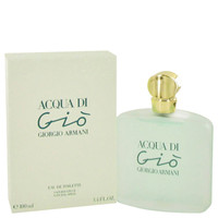 Acqua Di Gio Women Perfume by Giorgio Armani Edt Spray 3.4 oz