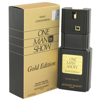 Mens One Man Show Gold Cologne by Jacques Bogart Edt Spray 3.4 oz