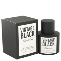 Vintage Black for Men Cologne by Kenneth Cole Edt Spray 3.4 oz