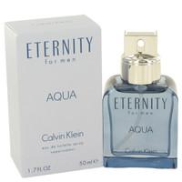 Eternity Aqua Mens Cologne by Calvin Klein Edt Spray 1.7 oz