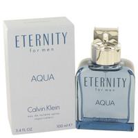 Eternity Aqua Mens Cologne by Calvin Klein Edt Spray 3.4 oz