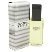Quorum Silver Cologne by Antonio Puig for Men Edt Spray 3.4 oz