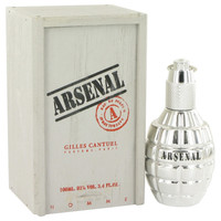 Arsenal Platinum Cologne by Gilles Cantuel 3.4 oz