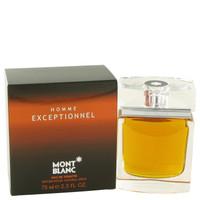 Mont Blanc Exceptionnel for Men 2.5oz Edt Spray