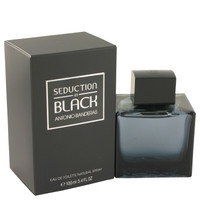 Seduction In Black For Men Cologne Edt Spray 3.4oz