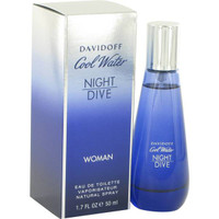 Cool Water Night Dive Womens by Zino Davidoff Edt (New) 2.7 oz