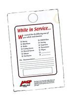 Maintenance Reminder Hang Tags