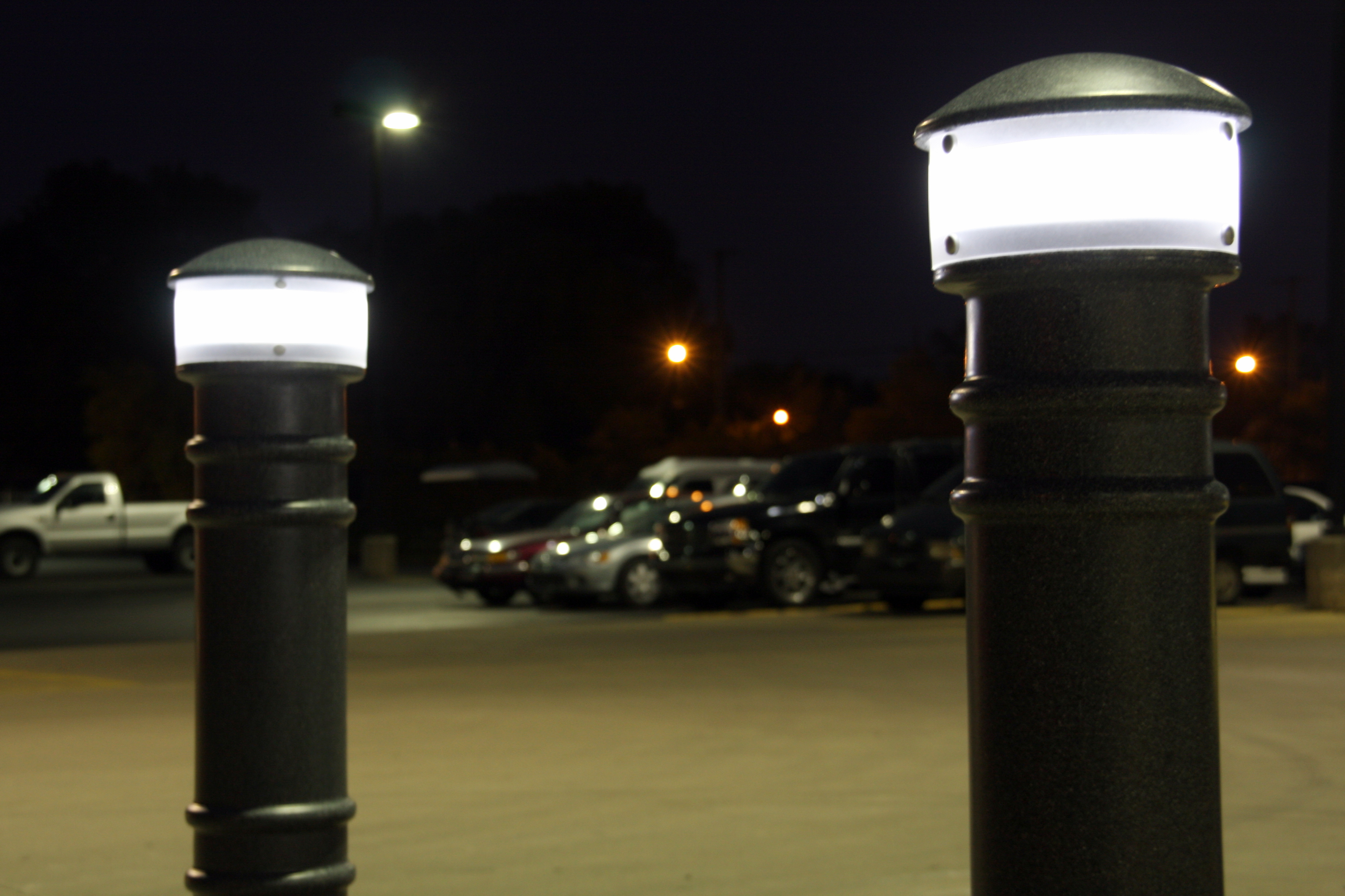 Hardwired Lighted Bollard Covers