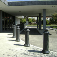 """Bollards and Sleeve's 10"""" Pawn Decorative Bollard Covers For Building Entryway"""