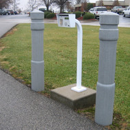"Bollards and Sleeve's 6"" Architectural Decorative Bollard Covers for Park Entrance"