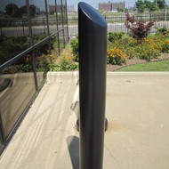 "Bollards and Sleeve's 6"" Skyline Decorative Bollard Covers in Black"