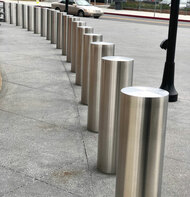 Stainless Steel Embedded Security Bollards