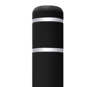 Black Flat Top Bollard Cover