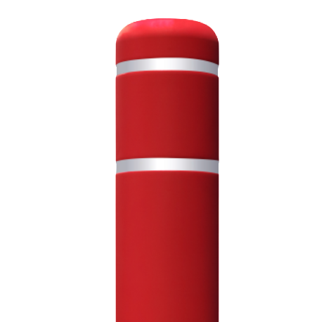 Red Flat Top Bollard Cover