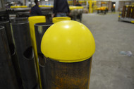 Dome Top Bollard End Cap on a bollard